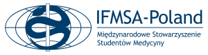 Emblemat IFMSA-Poland granatowy